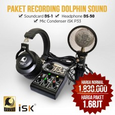 Paket home recording lengkap dolphin sound ds-1 ds-50 isk P33