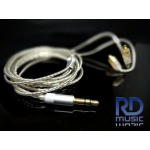 kabel MMCX silver coated for IEM : shure, basic ie300, Pi 3.14 audio