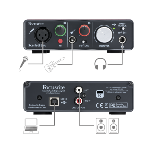 Focusrite Scarlett Solo - Soundcard Interface 2 Channel