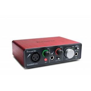 Paket Home Recoding : Soundcard Focusrite Scarlett Solo, Mic Samson C01, Headphone Samson SR850