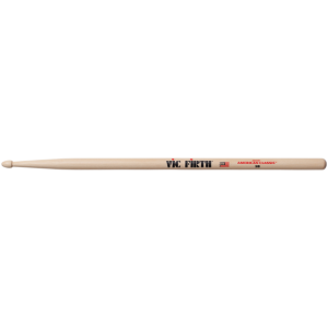 Vic Firth 5B American Classic Hickory wood tip stick drum