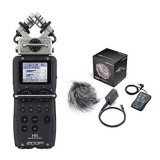 ZOOM H5 (resmi) +acc pack: portable audio recorder video dslr